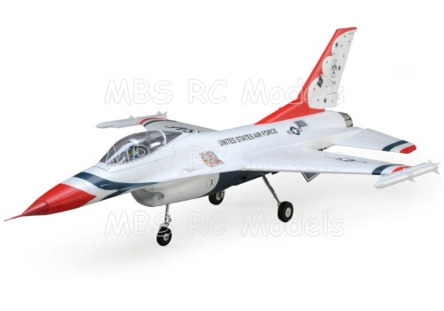 E-Flite F-16 Thunderbirds 70mm EDF BNF Basic med AS3X och SAFE